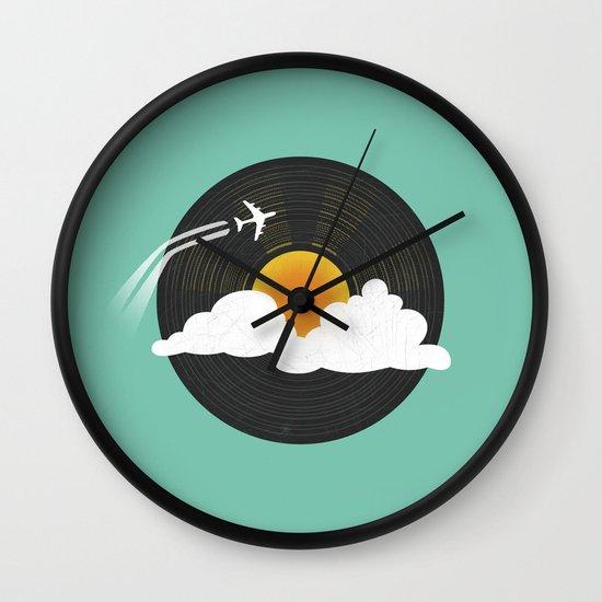 Sunburst Records Wall Clock