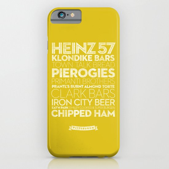 Pittsburgh — Delicious City Prints iPhone & iPod Case