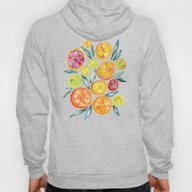 Sliced Citrus Watercolor Hoody