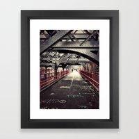 Williamsburg Bridge - New York City Framed Art Print