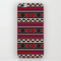 Navajo blanket pattern- red iPhone & iPod Skin