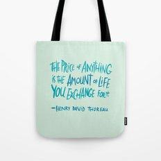 Henry David Thoreau Tote Bag