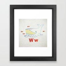 W Whale Framed Art Print