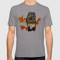Supper with Cat Mens Fitted Tee Athletic Grey SMALL