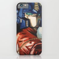 iPhone & iPod Case featuring Optimus Prime With Sunflower by Hillary White