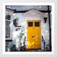 The Perfect Yellow Door Art Print