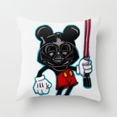 Darth Mouse Throw Pillow