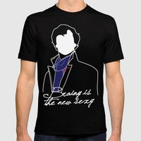 Sherlock Mens Fitted Tee Black SMALL