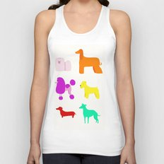 The Rainbow Dogs II Unisex Tank Top