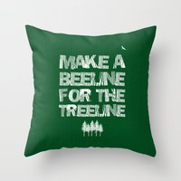 Make A Beeline For The T… Throw Pillow