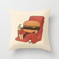 Lunch Break. Throw Pillow