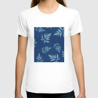 Botanical Womens Fitted Tee White SMALL