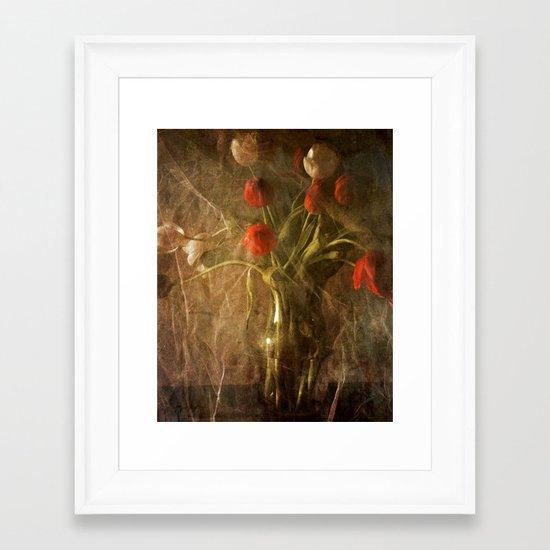 Vase with Tulips Framed Art Print
