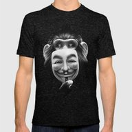 Anonymous Mens Fitted Tee Tri-Black SMALL