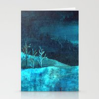 PAISAJE AZUL Stationery Cards