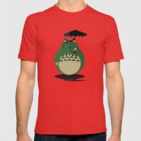 my neighbor cthulu Mens Fitted Tee Red SMALL