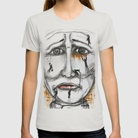 friends in need  Womens Fitted Tee Silver SMALL