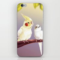 Budgie And Cockatiel iPhone & iPod Skin