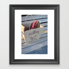Gnome in the Cookie Bag Framed Art Print