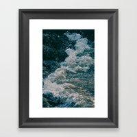 East River Bank - New Yo… Framed Art Print