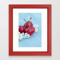 Cherry Beauty Framed Art Print