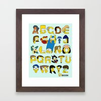 Simpsons Alphabet Framed Art Print