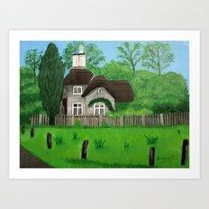 Cottage---Longleat safari park Art Print