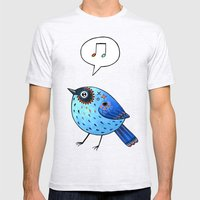 Blue Bird Mens Fitted Tee Ash Grey SMALL