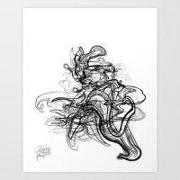 Art Print featuring Kaiju /  Codename: fo4rfifteen. by David Nuh Omar
