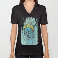The Blue Boy with Golden Hair Unisex V-Neck
