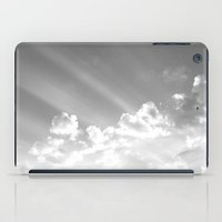 Cotton clouds and sunrays iPad Case
