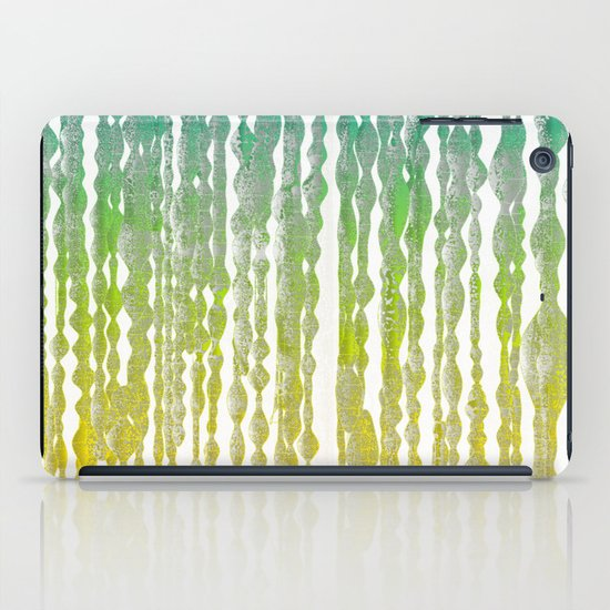 psychedelic stripes - green iPad Case