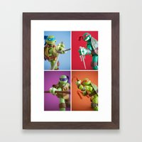 Heroes in a Half Shell Framed Art Print