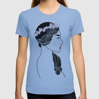 Cherry Blossom Girl. Womens Fitted Tee Athletic Blue SMALL