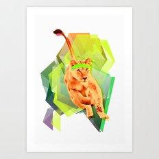 Lioness fitness Art Print