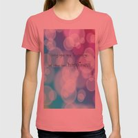 Charisma Bokeh Womens Fitted Tee Pomegranate SMALL