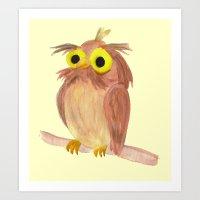 the nice owl Art Print