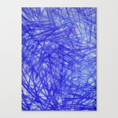 Ophelia Blue Scribble Canvas Print