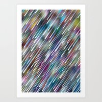 Like Neon Rain Art Print