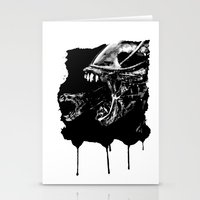 They're coming outta the fucking walls Stationery Cards