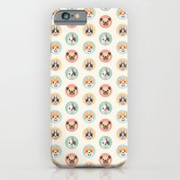 iPhone & iPod Case featuring Circle Pup Pattern by Claire Stamper