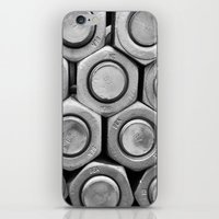 STUDS (b&w) iPhone & iPod Skin
