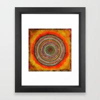 tree rings Framed Art Print
