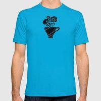 Black Tea Mens Fitted Tee Teal SMALL