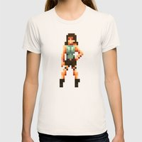 Retro Raider Womens Fitted Tee Natural SMALL