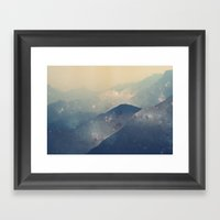 Mountains Of Space Framed Art Print