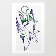 Blue Green Art Print