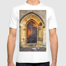 St Andrews Church, Aysgarth White Mens Fitted Tee SMALL