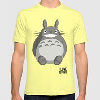 I Love Totoro Mens Fitted Tee Lemon SMALL