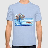 The Lotus And The Goldfi… Mens Fitted Tee Tri-Blue SMALL